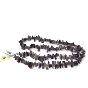"""Macys Amethyst Sterling Silver Necklace 17"""" New"""